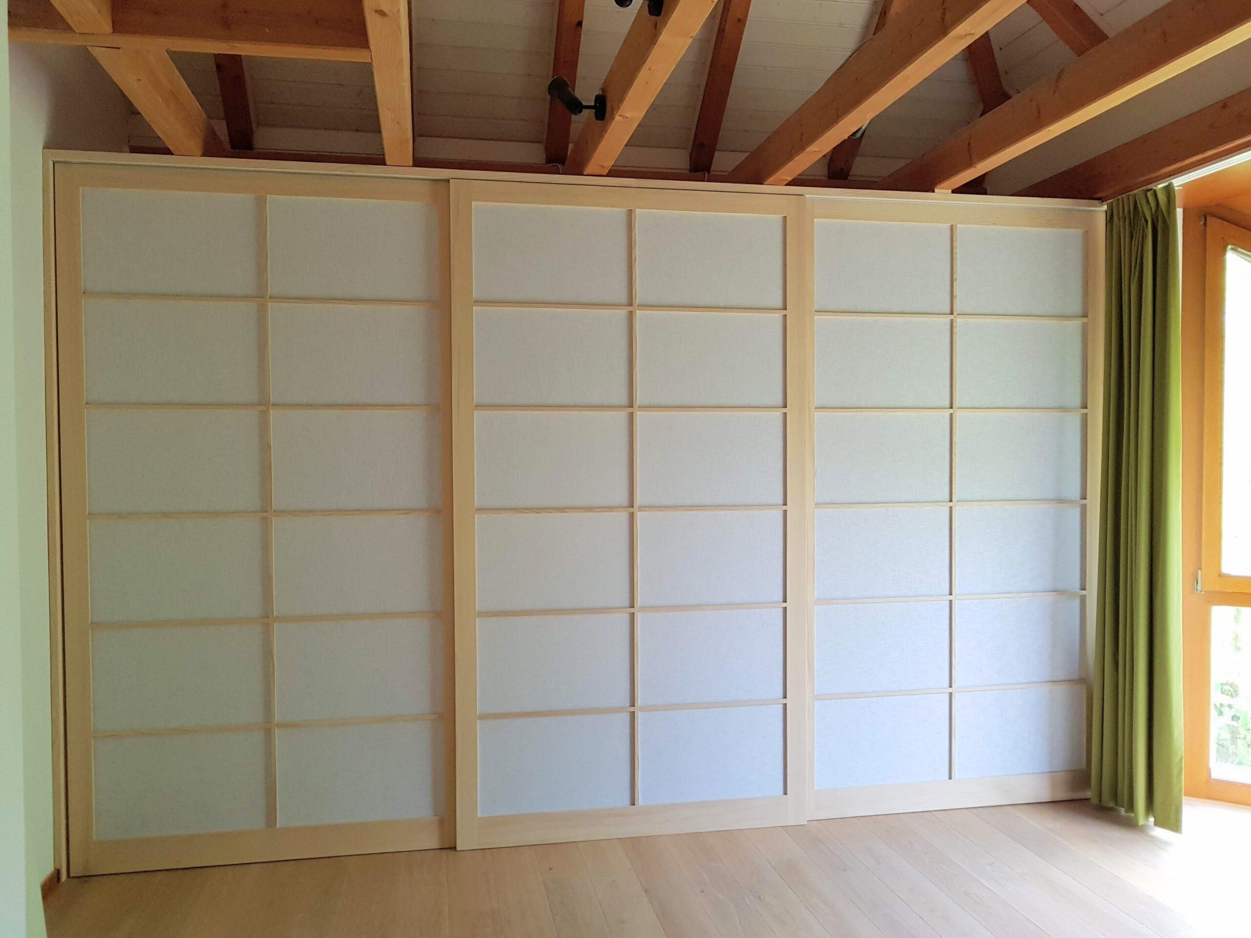 Japanische Shoij Schiebetüren für japanische Raumgestaltung