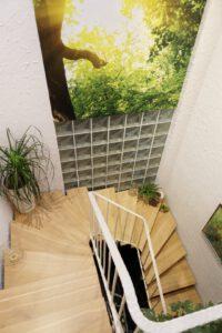 Treppenstufen im Scandic chic Stil