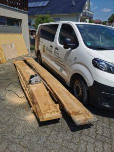 Die Arbeit am Massivholzmöbel - Lowboard aus Spessarteiche beginnt